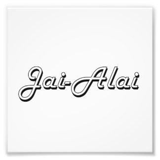 Jai-Alai Classic Retro Design Photograph