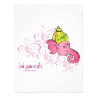 Jai Ganesh Elephant Designs 21.5 Cm X 28 Cm Flyer