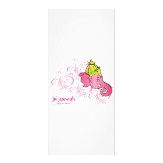 Jai Ganesh Elephant Designs Rack Card