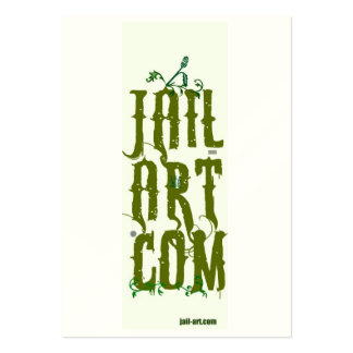 jail-art.com protection sign pack of chubby business cards