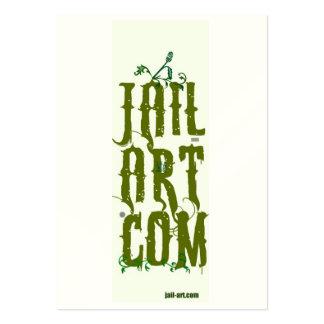 jail-art.com RUDY FINGER SIGN Business Cards