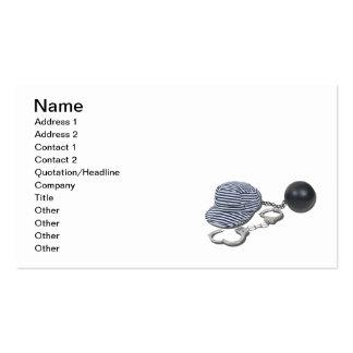 Jailbird Handcuffs Ball Chain Pack Of Standard Business Cards