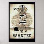 Jailbird: Wanted poster