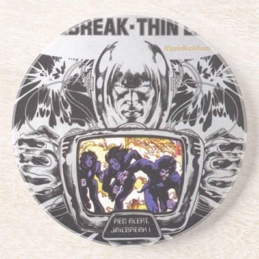 Jailbreak Thin Lizzy HippieRockRoots Coaster