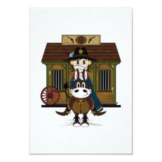 Jailhouse Cowboy on Horse RSVP Card 9 Cm X 13 Cm Invitation Card