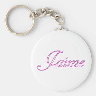 Jaime Basic Round Button Key Ring