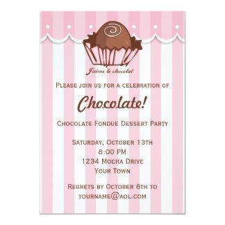 J'aime Chocolat 13 Cm X 18 Cm Invitation Card