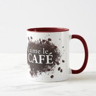 j'aime le café (I love coffee) mug