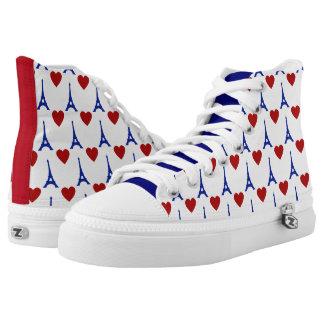 J'aime Paris Hi Top Printed Shoes
