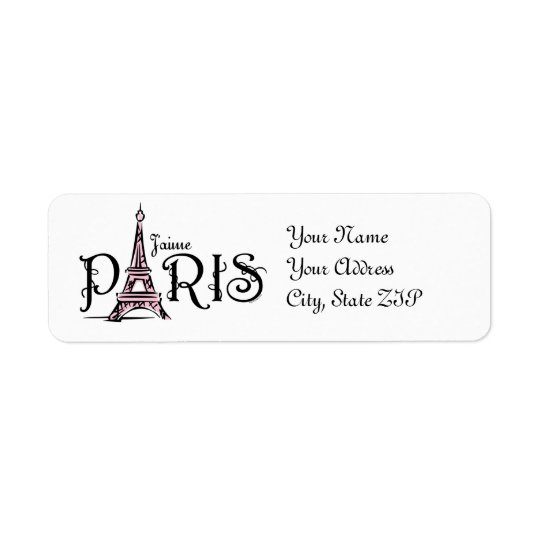 J'aime Paris Label Return Address Label