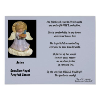 JAIME-PONYTAIL CHORUS GUARDIAN ANGEL CUSTOM POSTER