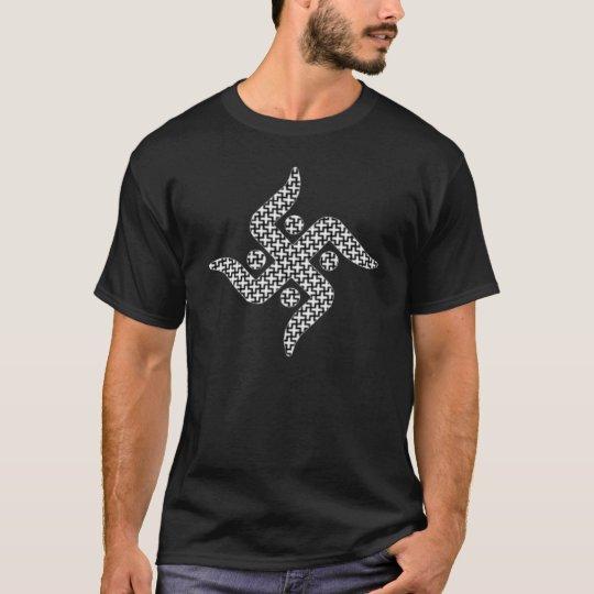 Jain Swastika Dark T-Shirt, Black T-Shirt