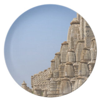 Jain temple in Chittorgarh Fort, India Party Plate