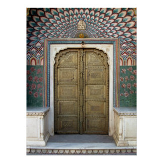 Jaipur City Palace Peacock Door Poster