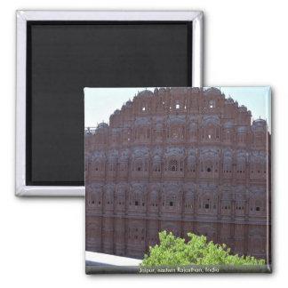 Jaipur, eastern Rajasthan, India Square Magnet