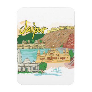 Jaipur Rectangular Photo Magnet