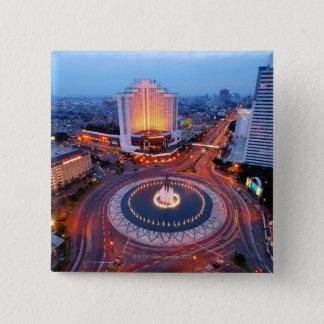 Jakarta Cityscape 15 Cm Square Badge
