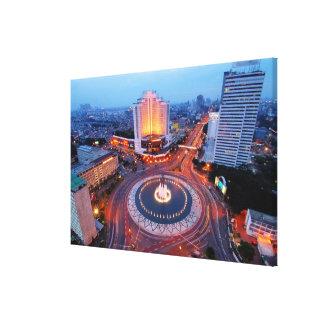 Jakarta Cityscape Stretched Canvas Prints