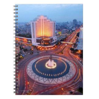 Jakarta Cityscape Spiral Note Book
