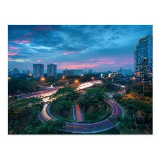 Jakarta Indonesia Cityscape Postcard