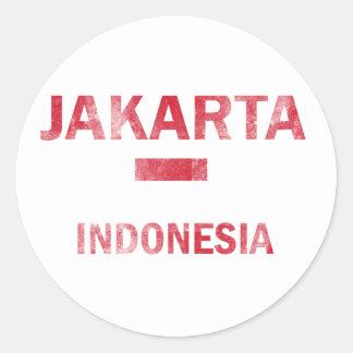 Jakarta Indonesia designs Round Sticker