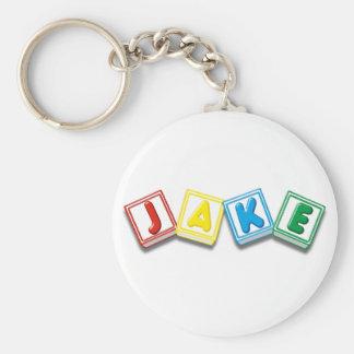 Jake Basic Round Button Key Ring