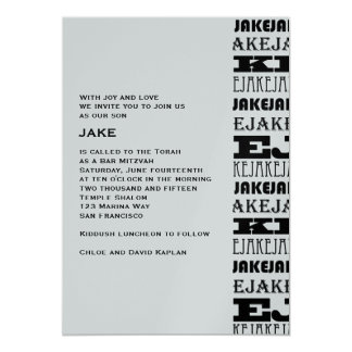 Jake Custom 13 Cm X 18 Cm Invitation Card