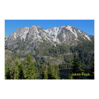Jakes Peak in the Morning Poster