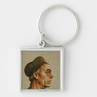 Jakob Fugger Silver-Colored Square Key Ring