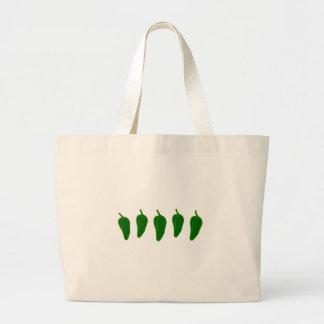 Jalapeno (Jalapeño) Peppers Logo Large Tote Bag