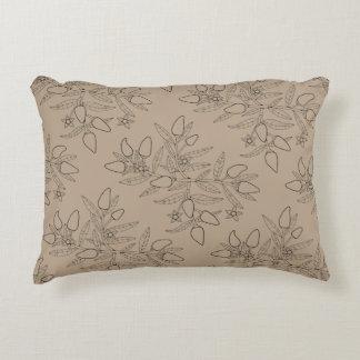 Jalapeno Spray Line Art Design Decorative Cushion