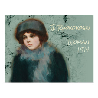 Jalmari Ruokokoski Portrait woman CC0072 Finland Postcard