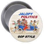 Jalopy Politics 10 Cm Round Badge