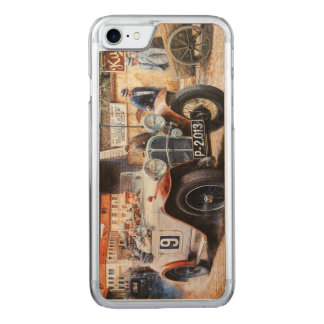 Jalopy racing car painting carved iPhone 7 case