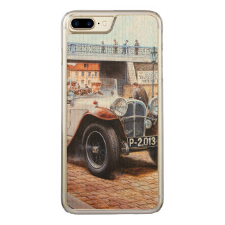 Jalopy racing car painting carved iPhone 7 plus case