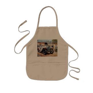 Jalopy racingcar painting kids apron