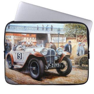 Jalopy racingcar painting laptop sleeve