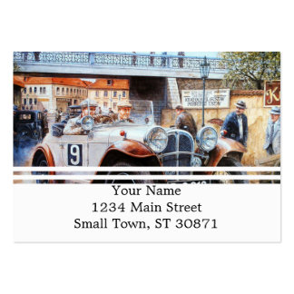 Jalopy racingcar painting pack of chubby business cards