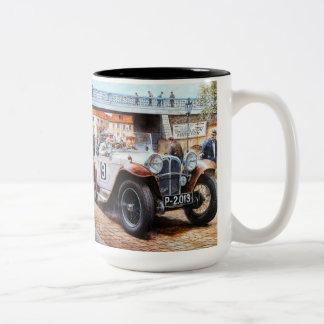 Jalopy racingcar painting Two-Tone mug