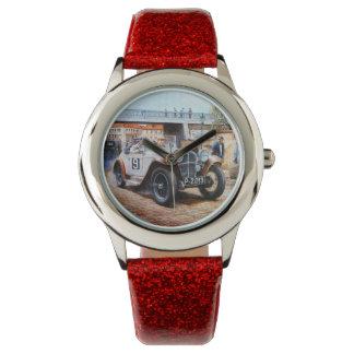 Jalopy racingcar painting wristwatch
