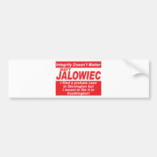 Jalowiec 2010 Campaign Sign Audit Bumper Stickers