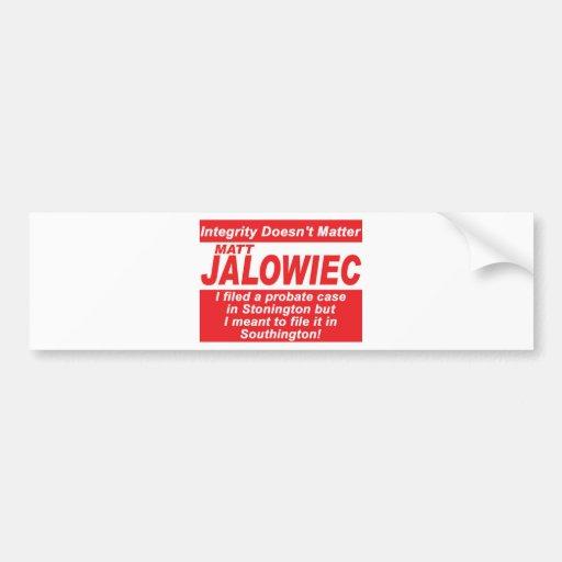 Jalowiec 2010 Campaign Sign Audit Bumper Stickers