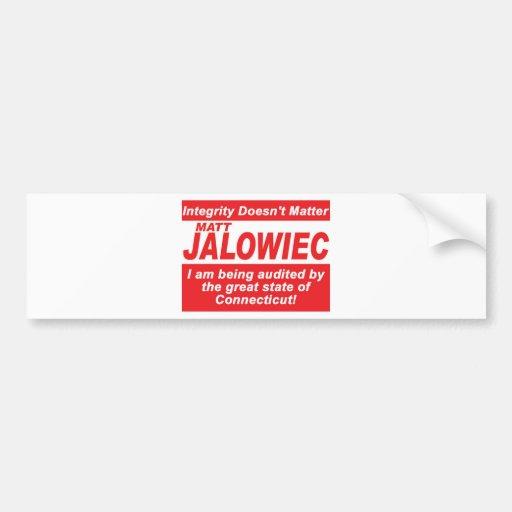 Jalowiec 2010 Campaign Sign southington Bumper Stickers