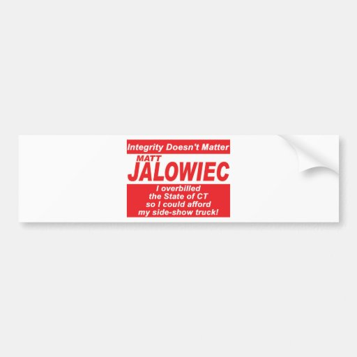 Jalowiec 2010 Campaign Sign SS Truck Bumper Stickers