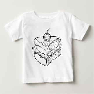 Jam and Cream Cake Vintage Retro Woodcut Style Baby T-Shirt