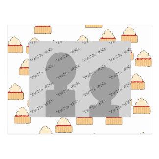 Jam and Cream Scone pattern Post Card