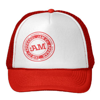 JAM- red stamp Mesh Hats