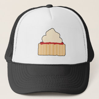 Jam Scone with Cream Topping. Trucker Hat