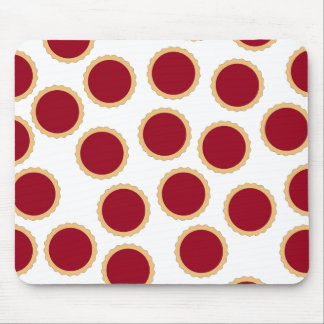 Jam Tart Pattern. Deep Raspberry Red. Mouse Mat