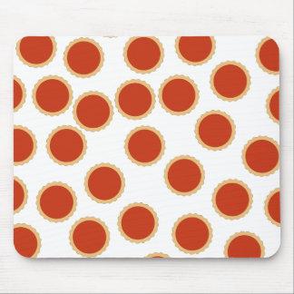 Jam Tart Pattern. Strawberry Red. Pies. Mousepad